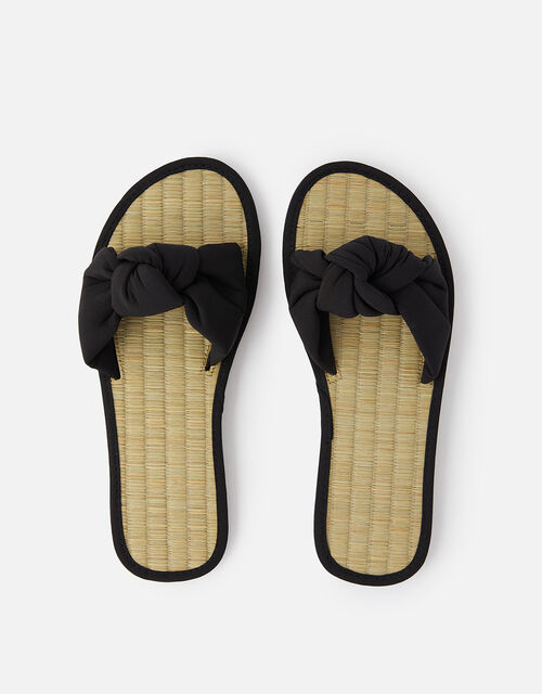 Knot Seagrass Sliders, Black (BLACK), large
