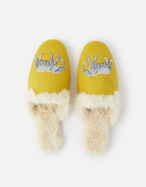 Elephant Fluffy Slippers WWF Collaboration Yellow, Yellow (YELLOW), large