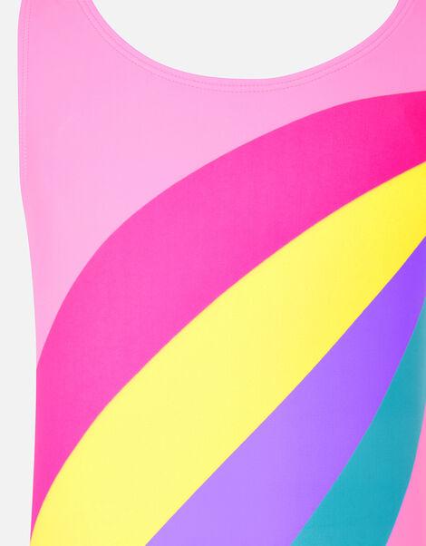 Rainbow Stripe Swimsuit Multi, Multi (BRIGHTS-MULTI), large