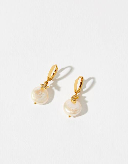 GlassLight PeachReverse Drop Light Peach Glass Stud Earrings7x10mm2pcs E0170Anti-Tarnished Gold Plating Over Brass