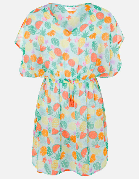 Fruit Print Kaftan Dress Multi, Multi (BRIGHTS-MULTI), large