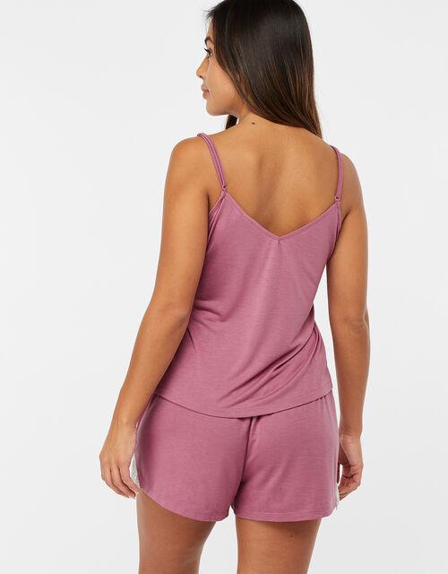 Teya Pyjama Vest and Shorts Set, Pink (PINK), large
