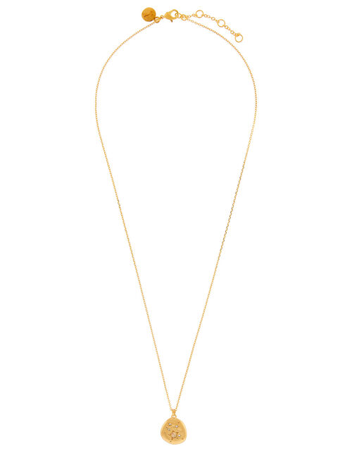 Gold-Plated Opal Zodiac Necklace - Aquarius, , large