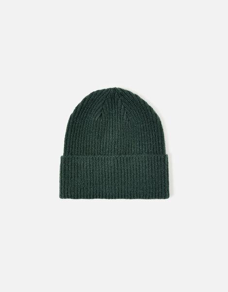 Soho Knit Beanie Hat Green, Green (GREEN), large
