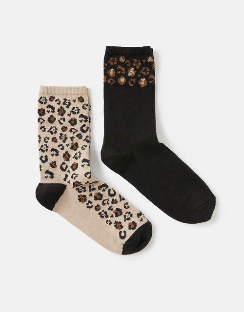 Animal Print Ankle Sock Set, , large