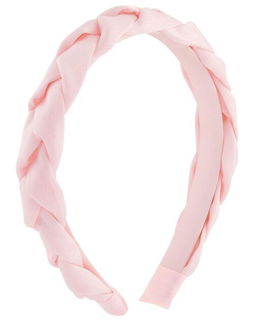 Plaited Satin Headband, , large