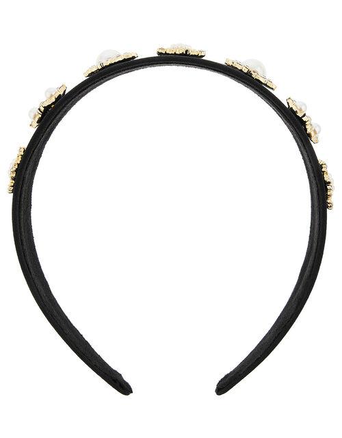 Pearl and Crystal Headband, , large