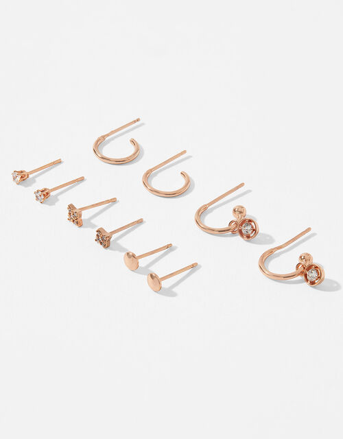 Rose Gold-Plated Stud and Hoop Multipack, , large