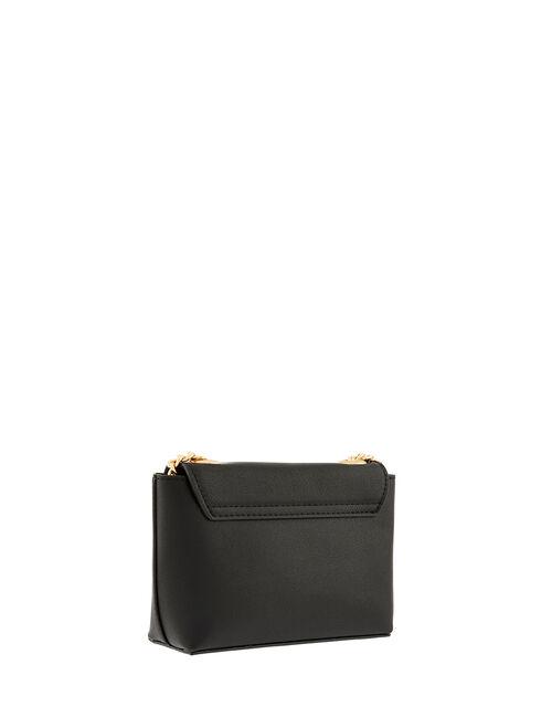 Mini Cross-Body Bag with Chain Strap, Black (BLACK), large