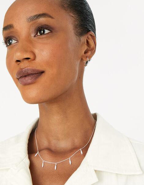 Pave Droplet Necklace, , large