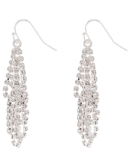 Sparkly Cup Chain Drop Earrings, , large