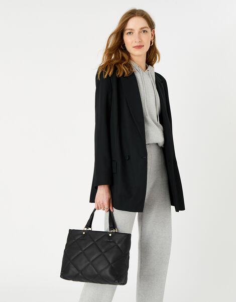 Kayleigh Quilted Handheld Bag  Black, Black (BLACK), large