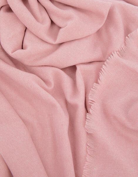 Wells Blanket Scarf Pale Pink, , large