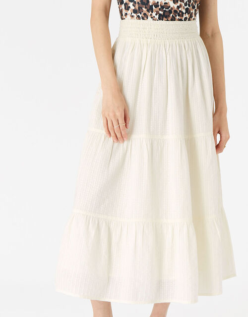 Tiered Beach Skirt, Natural (IVORY), large