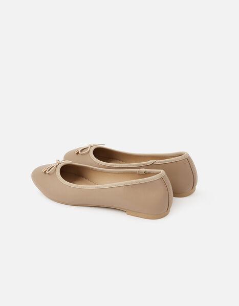 Croc Ballerina Flats Nude, Nude (NUDE), large