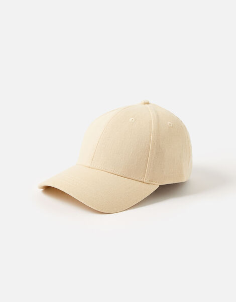 Baseball Cap in Linen Blend, , large