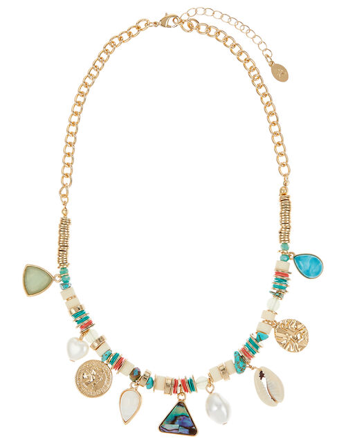 Melrose Charmy Collar Necklace, , large