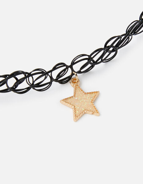Star Charm Choker Necklace, , large