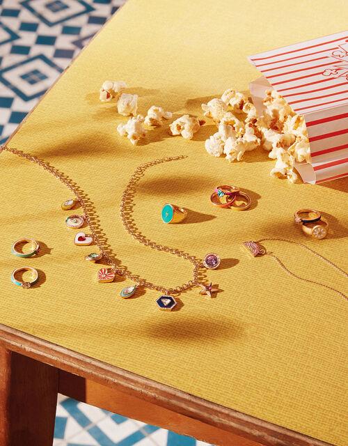 Lightning Bolt Signet Ring, Gold (GOLD), large