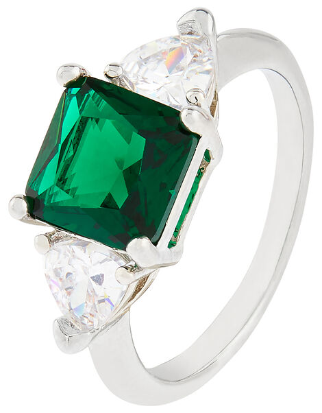 Clarissa Engagement Ring Green, Green (GREEN), large