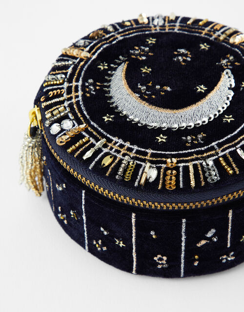 Moon and Star Embellished Jewellery Box, , large