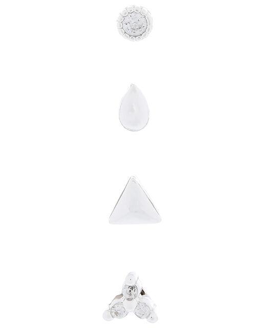 Crystal Shape Flat-Back Earring Set, , large
