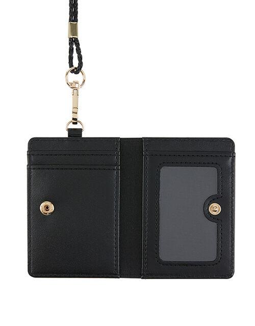 Lanyard Card Holder, Black (BLACK), large