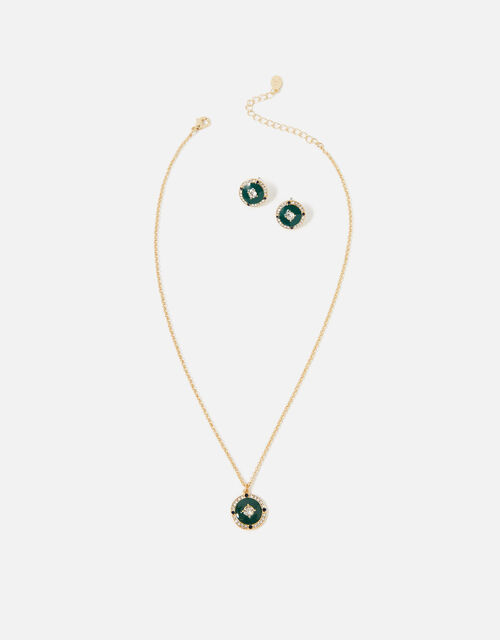 Reconnected Enamel Coin Jewellery Set, , large
