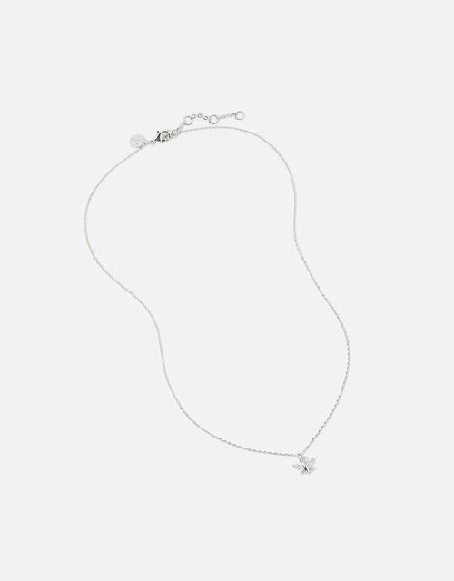Platinum-Plated Butterfly Necklace, , large