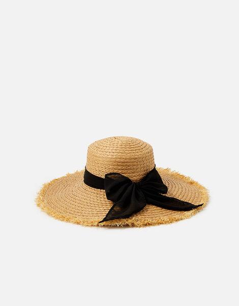 Frayed Edge Boater Hat  Natural, Natural (NATURAL), large