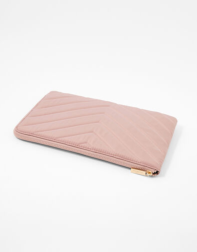 Quilted Nylon Laptop Case Nude, Nude (NUDE), large