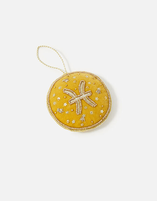 Embellished Star Sign Hanging Decoration, Yellow (OCHRE), large