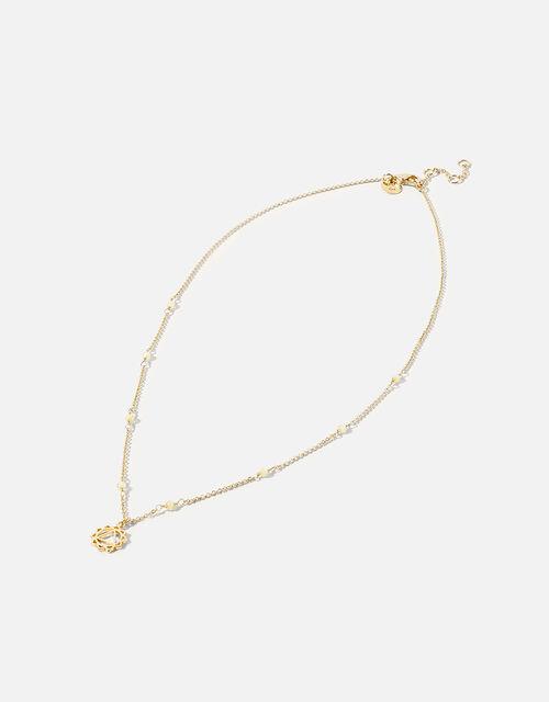 Beaded Solar Chakra Pendant Necklace, , large