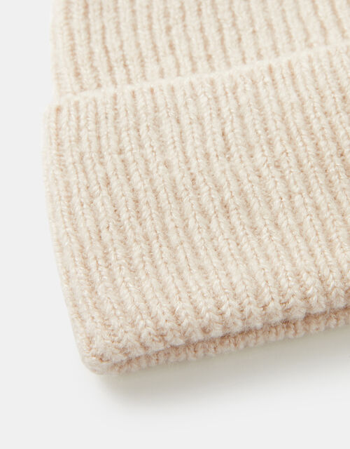 Soho Knit Beanie Hat, Natural (NATURAL), large