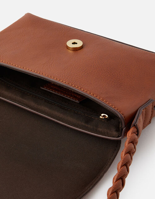 Pia Plaited Shoulder Bag , Tan (TAN), large