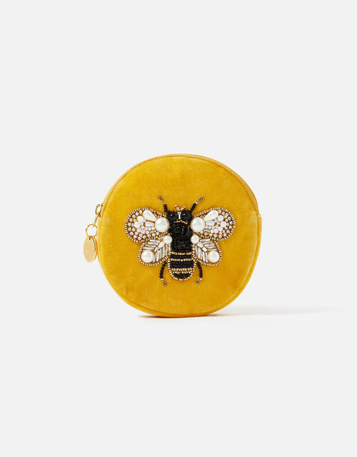 Embellished Bee Coin Purse, , large