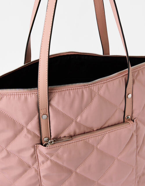 Tilly Quilted Tote Bag, Nude (NUDE), large