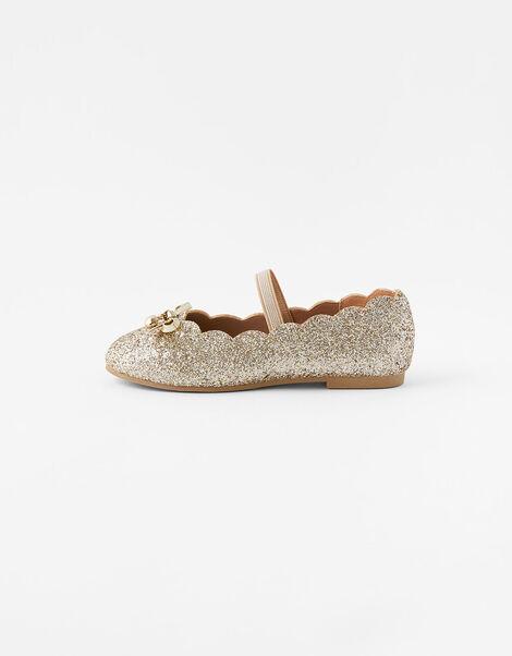 Scalloped Ballerina Flats Gold, Gold (GOLD), large