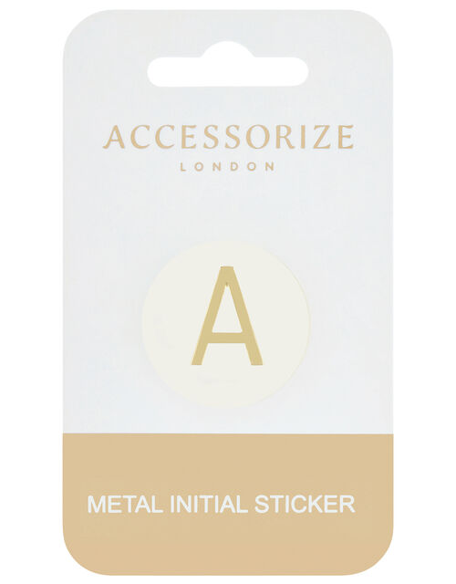 Metallic Initial Sticker - A, , large