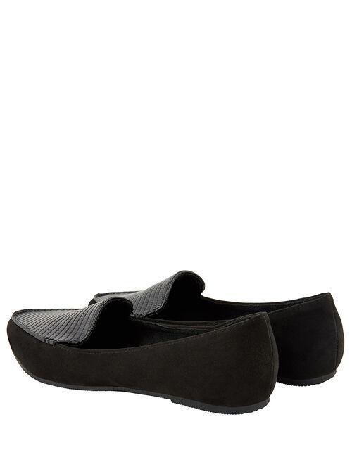 Point Toe Flat Shoes, Black (BLACK), large