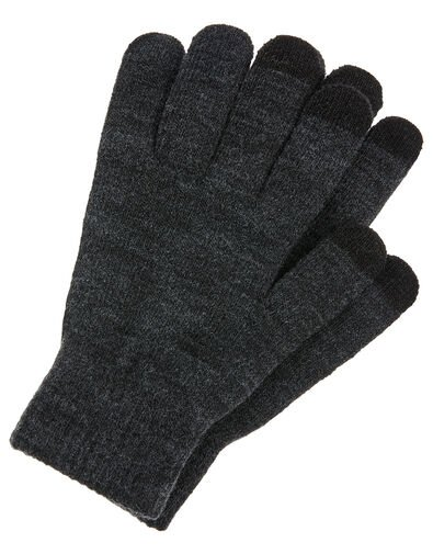 Super-Stretchy Touchscreen Gloves, Grey (GREY), large