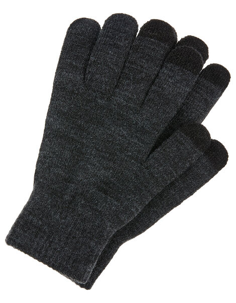 Super-Stretchy Touchscreen Gloves Grey, Grey (GREY), large