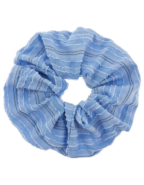 Oversized Textured Hair Scrunchie, , large