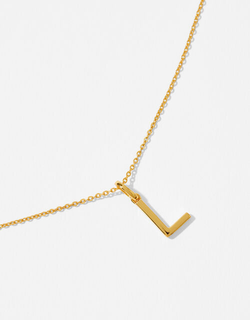 Gold Vermeil Initial Pendant Necklace - L, , large