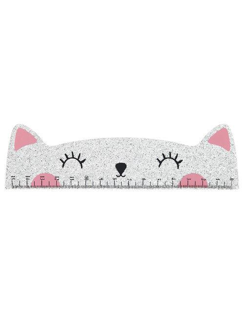Glitter Cat Ruler, , large