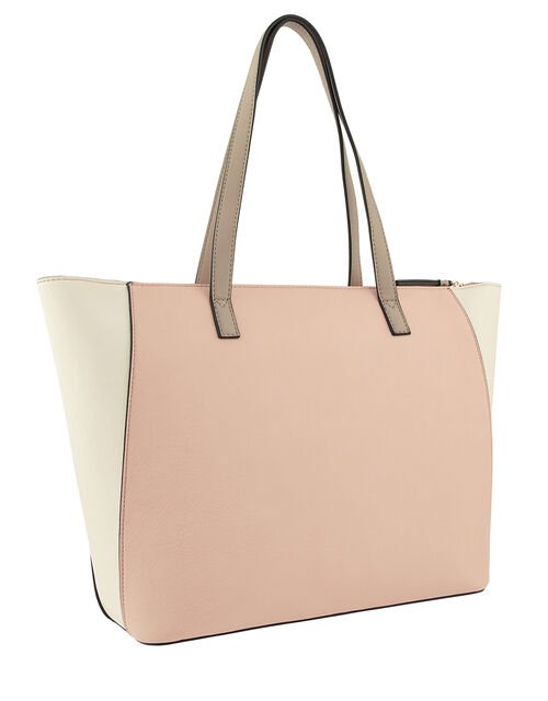 Dolly Vegan Colour-Block Tote Bag, Multi (PASTEL-MULTI), large