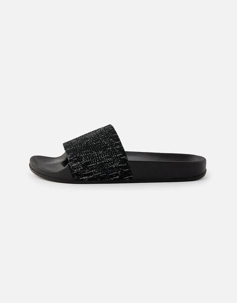 Speckled Sliders Black, Black (BLACK), large