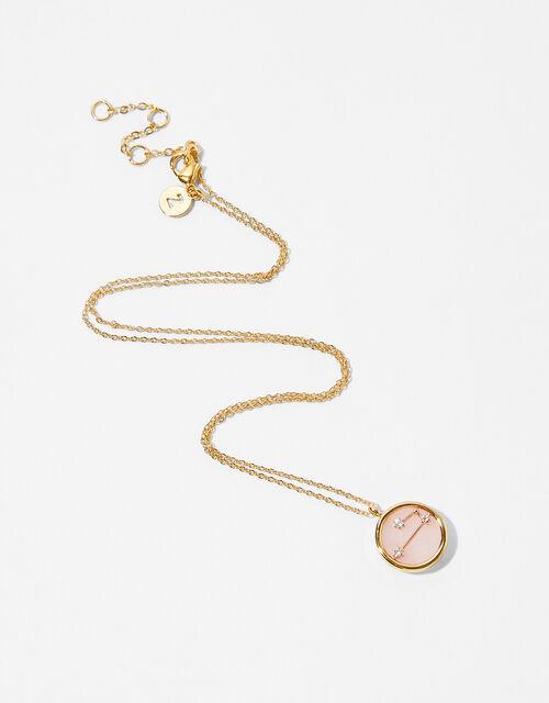 Rose Quartz Constellation Necklace - Aries, , large