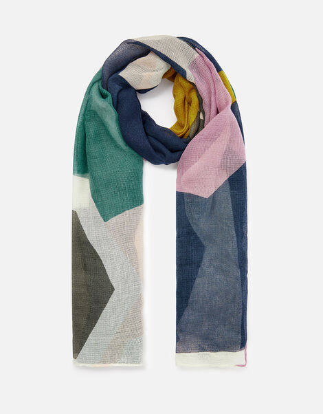 Kita Geo Print Scarf in Recycled Polyester, , large