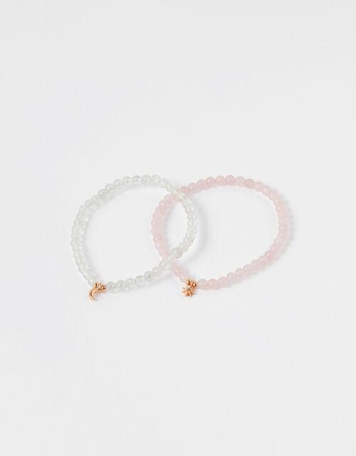 Healing Stones Bracelets - Rose Quartz and Clear Quartz, , large